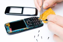 Mobile phone repair services Royalty Free Stock Photo