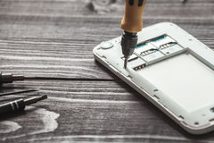 Mobile phone repairing Stock Photography