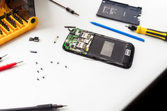 Mobile phone repairing Stock Photos