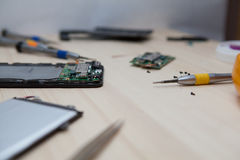 Mobile phone repairing Royalty Free Stock Images