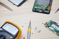 Mobile phone repairing Royalty Free Stock Photography