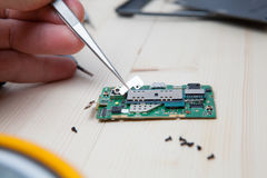 Mobile phone repairing Royalty Free Stock Photo