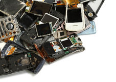 Mobile phone scrap stock image