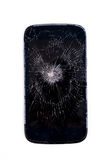 Mobile phone screen is cracked Stock Images