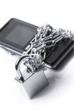 Mobile phone security Stock Image