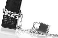 Mobile phone security Royalty Free Stock Photo