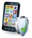 Mobile phone security concept Royalty Free Stock Image