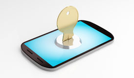 Mobile phone security Royalty Free Stock Image