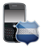 Mobile phone security shield Royalty Free Stock Photography