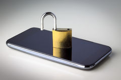 Mobile phone security Stock Photos