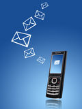 Mobile phone. Sending message concept. Royalty Free Stock Photography