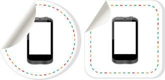Mobile phone set. Stickers label tag icons set Royalty Free Stock Images