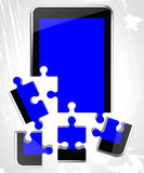 Mobile Phone Shows Telephone Debate And Communication Royalty Free Stock Images