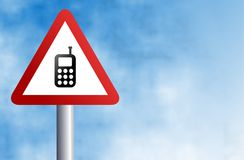 Mobile phone sign Royalty Free Stock Images