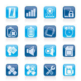 Mobile Phone sign icons Stock Images