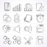 Mobile Phone sign icons Royalty Free Stock Photo
