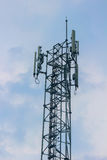 Mobile phone signal post Royalty Free Stock Photos