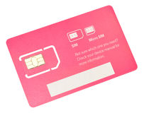 Mobile Phone SIM Card Stock Photography