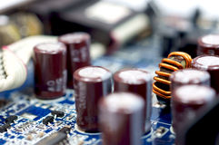 Close up shot of technology parts Royalty Free Stock Image