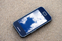 Mobile phone sky Royalty Free Stock Photography