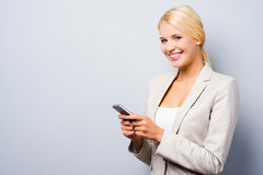 This mobile phone is for smart people. Royalty Free Stock Photo