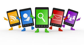 Mobile Phone / Smartphone. Email using a smart phone. Internet using a mobile phone. Get in touch using the smartphone. Search the website Royalty Free Stock Photo