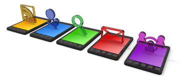 Mobile Phone / Smartphone. Email using a smart phone. Internet using a mobile phone. Get in touch using the smartphone. Search the website Stock Photos