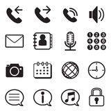 Mobile phone & smartphone application icons set. Mobile phone icon Vector illustration Graphic design vector illustration