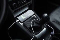 Free Mobile Phone, Smartphone Charge Battery, Charging In The Car Plug Close Up Royalty Free Stock Photos - 202696498