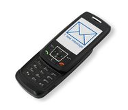 Mobile phone with SMS #2 Stock Photos