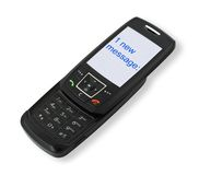 Mobile phone with SMS Stock Images
