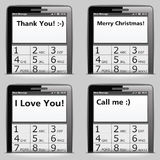 Mobile Phone with SMS Royalty Free Stock Images