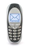 Mobile phone with SMS Stock Photography