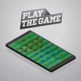 Mobile phone soccer game. Illustration of mobile phone soccer game Royalty Free Stock Photo