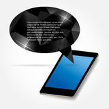 Mobile phone with speech bubble vector. Illustration. This is file of EPS10 format Royalty Free Stock Image