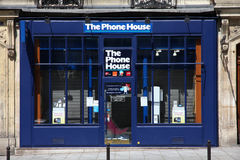 Mobile phone store. PARIS - JULY 24: Phone House store on July 24, 2011 in Paris, France. Company known as The Carphone Warehouse in the UK, is Europe's largest Stock Photo