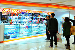 Mobile phone store in hong kong Royalty Free Stock Photography