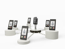 Mobile phone surveillance Royalty Free Stock Photography