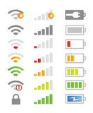Mobile phone system icons stock illustration