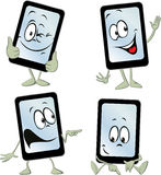 Mobile phone tablet computer cartoon - vector Stock Photography