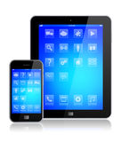 Mobile phone with tablet PC Royalty Free Stock Photo