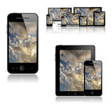 Mobile phone, tablet pc, laptop and computer Royalty Free Stock Image