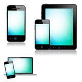 Mobile phone, tablet pc and laptop Royalty Free Stock Image