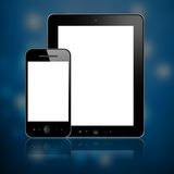 Mobile phone and tablet pc Royalty Free Stock Photo