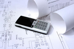 Mobile phone technology design Royalty Free Stock Photo
