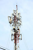 Mobile phone Telecommunication Tower Stock Photo