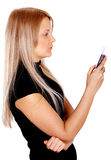 Mobile phone text Royalty Free Stock Image