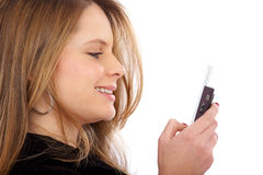 Mobile phone text Stock Photo