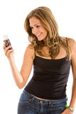 Mobile phone text Royalty Free Stock Photos
