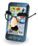 Mobile phone theft concept Stock Photo